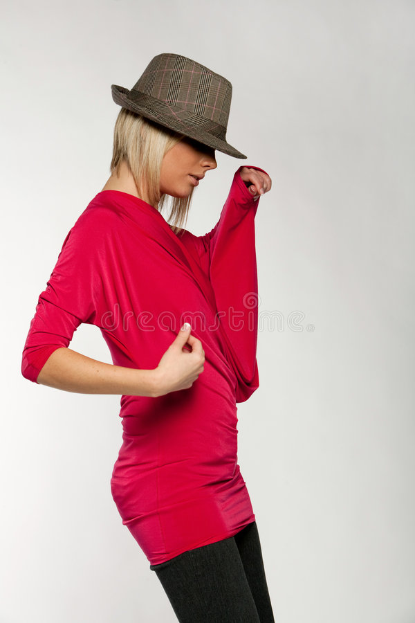 Attractive urban woman stock photos