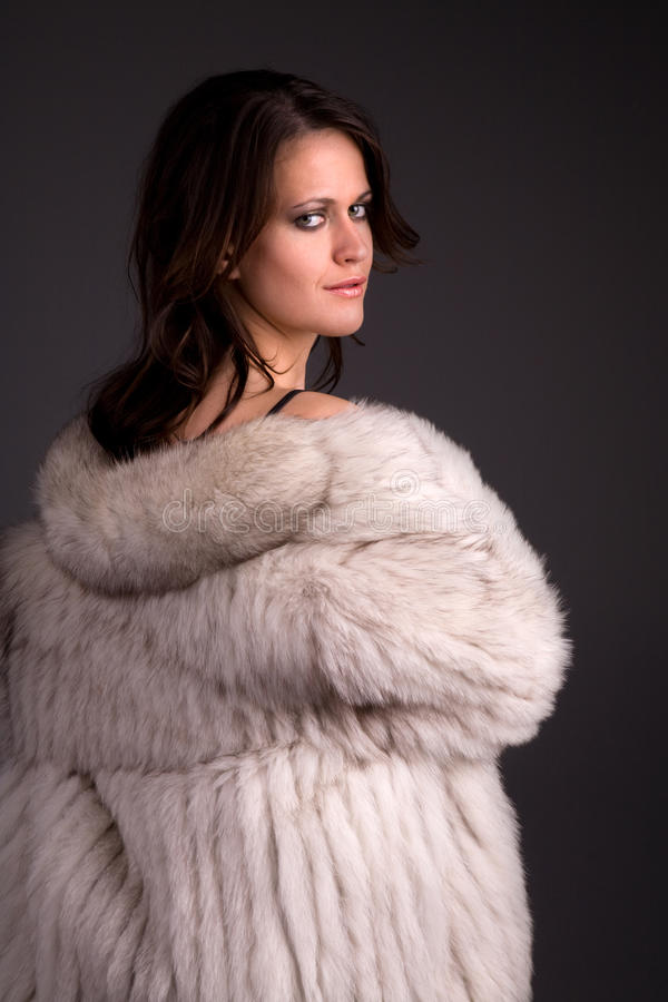 Download Attractive woman stock photo. Image of coat, woman, playful - 10492636