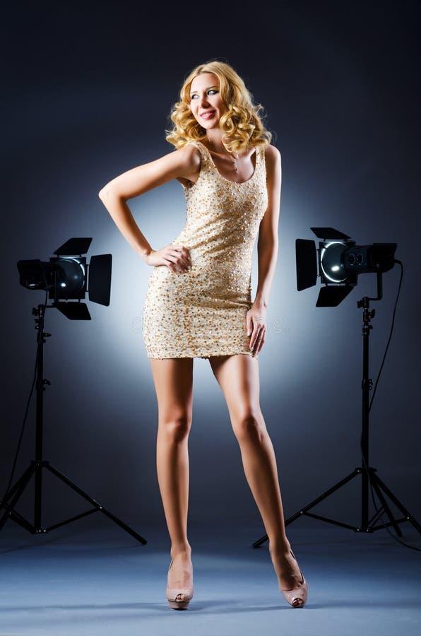 Download Attractive woman stock image. Image of doors, elegant - 27864017