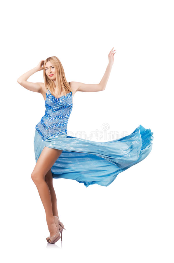 Download Attractive Woman In Blue Dress Stock Photo - Image: 28351360