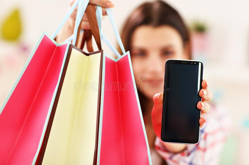 Attractive woman buying easter gifts online stock image image of download attractive woman buying easter gifts online stock image image of house buying negle Images