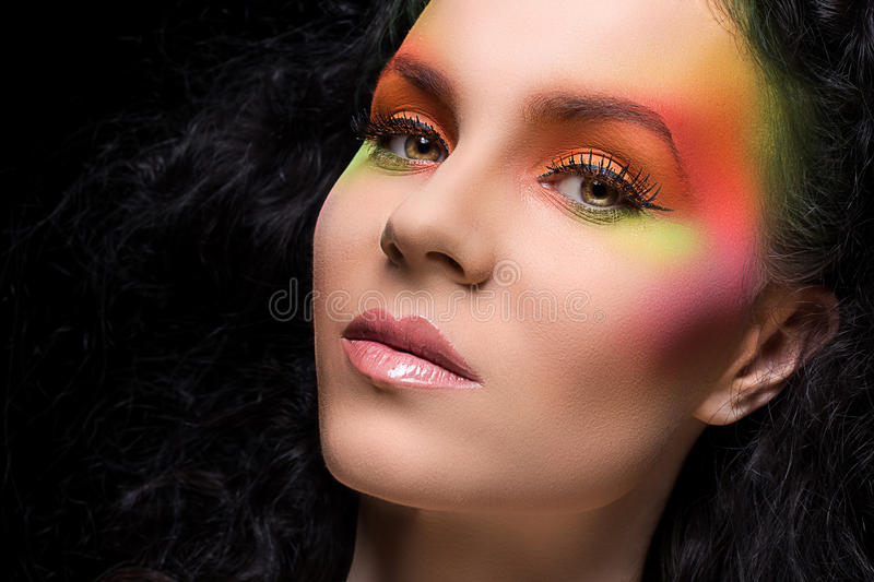 Download Attractive Woman With Colored Make-up Stock Photo - Image: 41524836