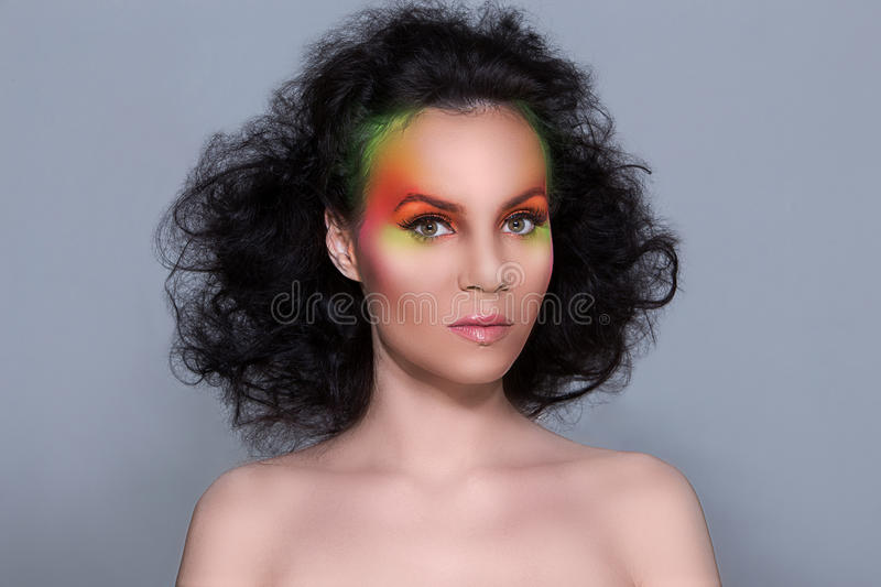 Download Attractive Woman With Colored Make-up Stock Photo - Image: 41524840