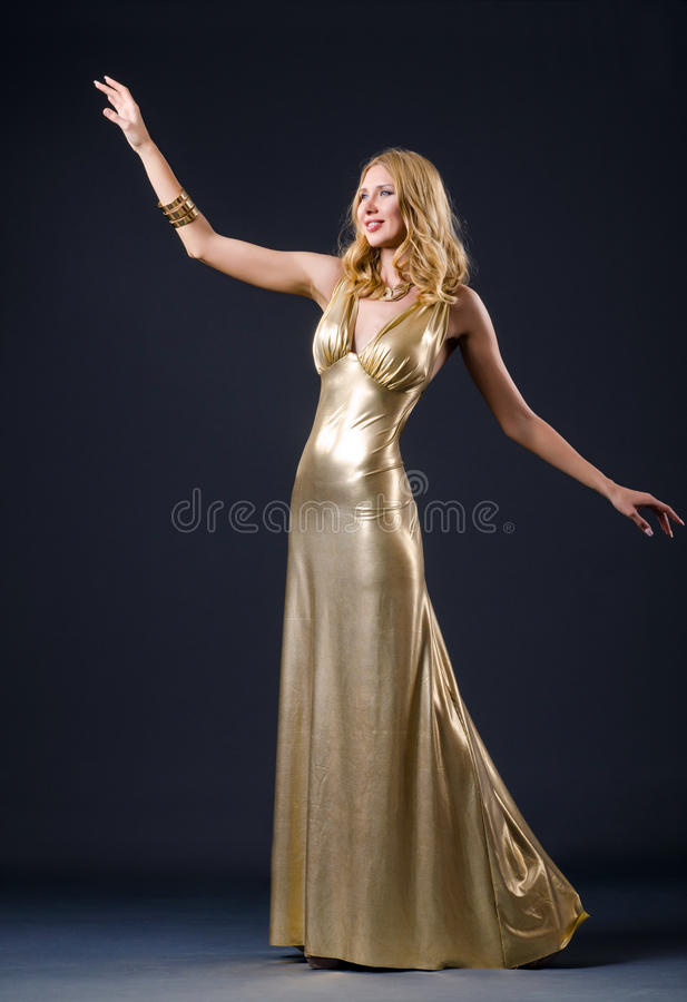 Attractive Woman In  Dress Stock Photography