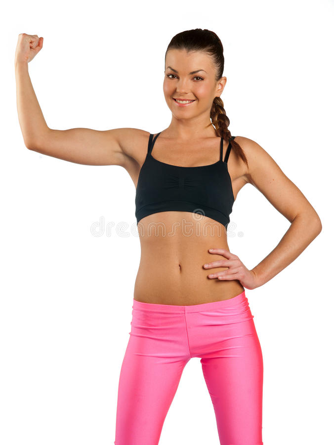 Download Attractive woman exercise stock photo. Image of biceps - 23648894