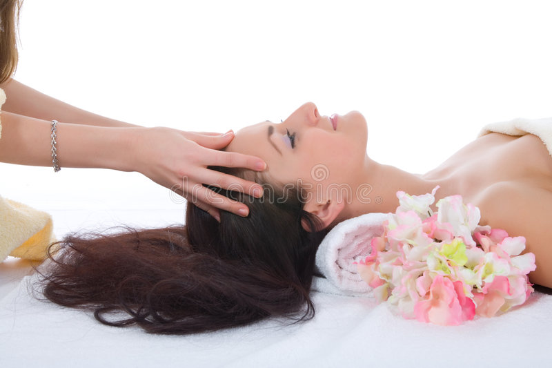 Download Attractive Woman Getting Spa Treatment Stock Image - Image: 4928401