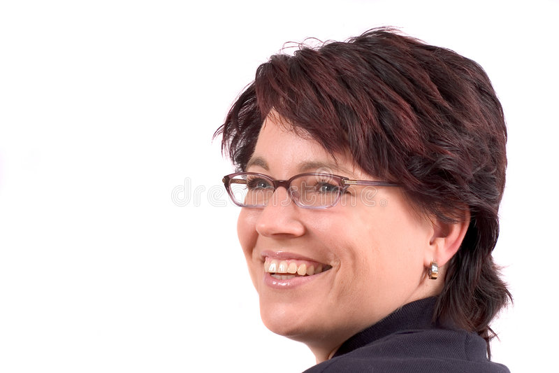 Attractive woman with glasses stock images