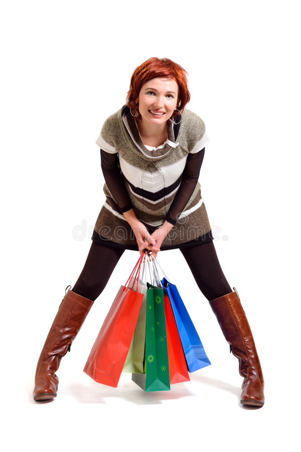Download Attractive Woman Holding Shopping Bags Stock Photo - Image: 22336742