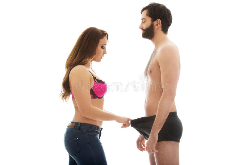 womens talking into wearing man lingerie