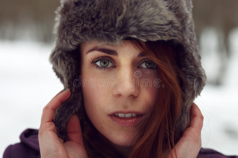 Attractive woman looking to camera royalty free stock image