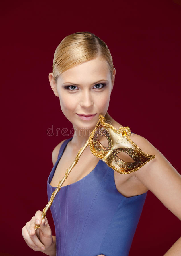 Download Attractive Woman With Masquerade Mask Royalty Free Stock Photo - Image: 26219815