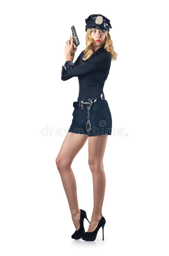 Attractive Woman Police Royalty Free Stock Photography