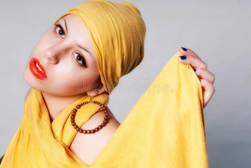 Attractive woman portrait royalty free stock photos