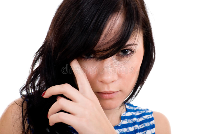 Attractive woman portrait royalty free stock image