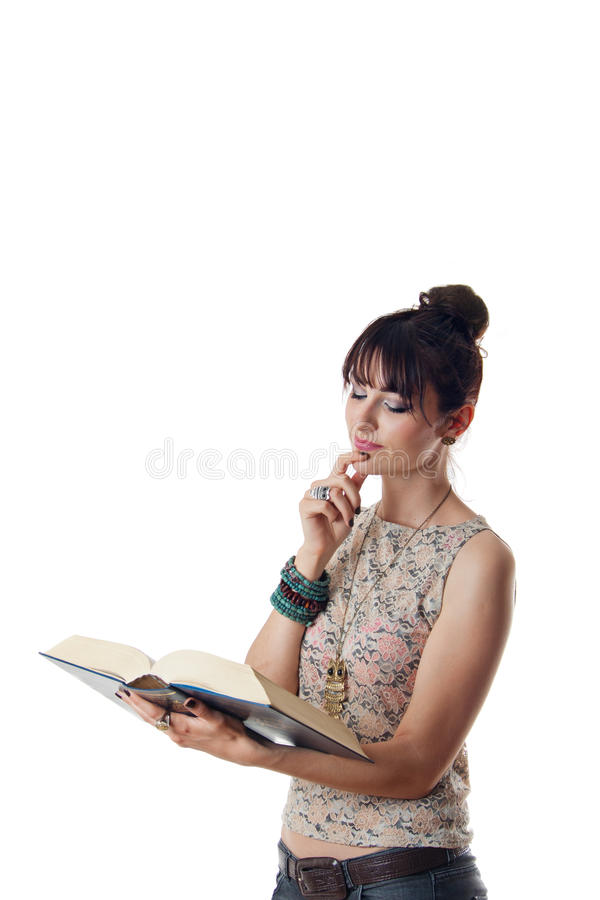 Download Attractive Woman Reading A Book Stock Photos - Image: 24866673