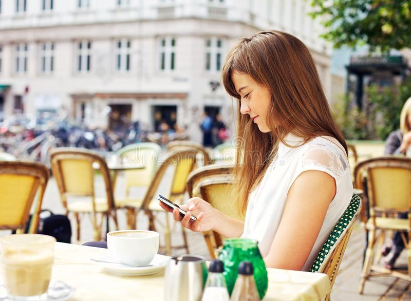Download Attractive Woman Reading A Text Message Stock Photo - Image: 28122282