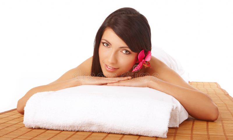 Attractive Woman Relaxing Spa royalty free stock images