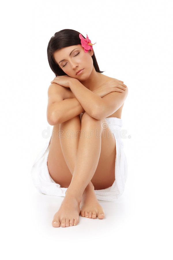 Free Attractive Woman Relaxing Spa Stock Photos - 8963303