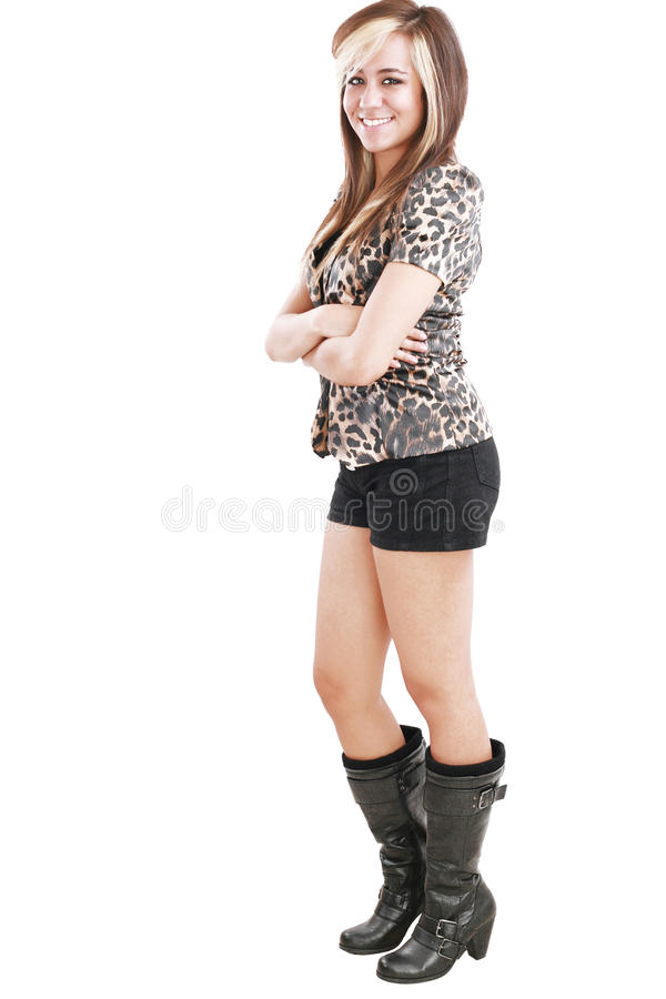 Attractive woman with short royalty free stock image