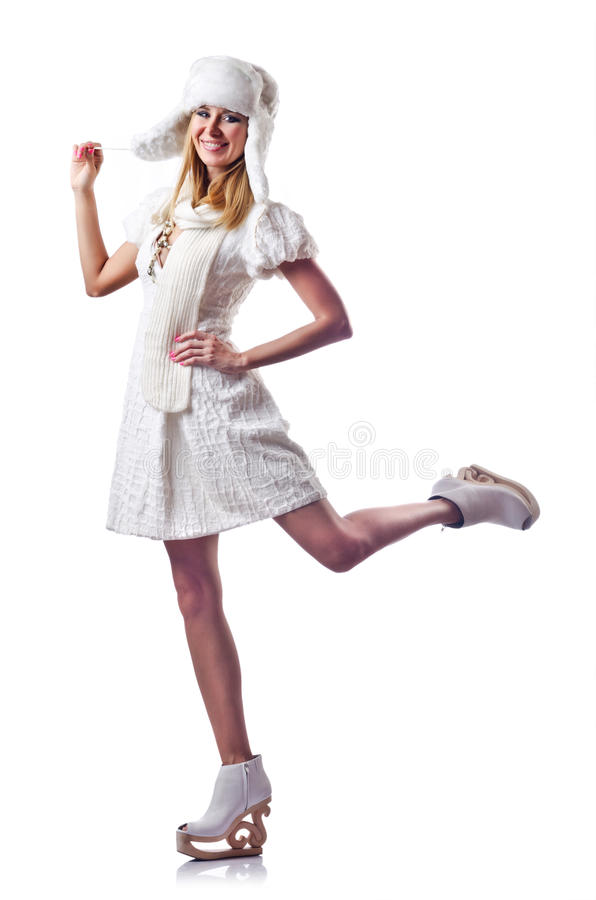 Attractive Woman In Skate Shoes Royalty Free Stock Photo