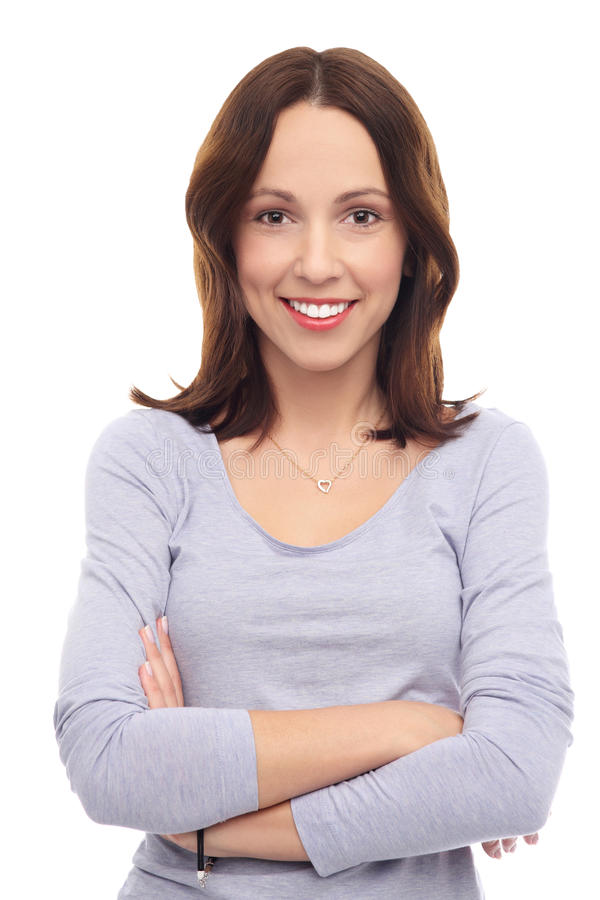 Download Attractive woman smiling stock image. Image of young - 28423465