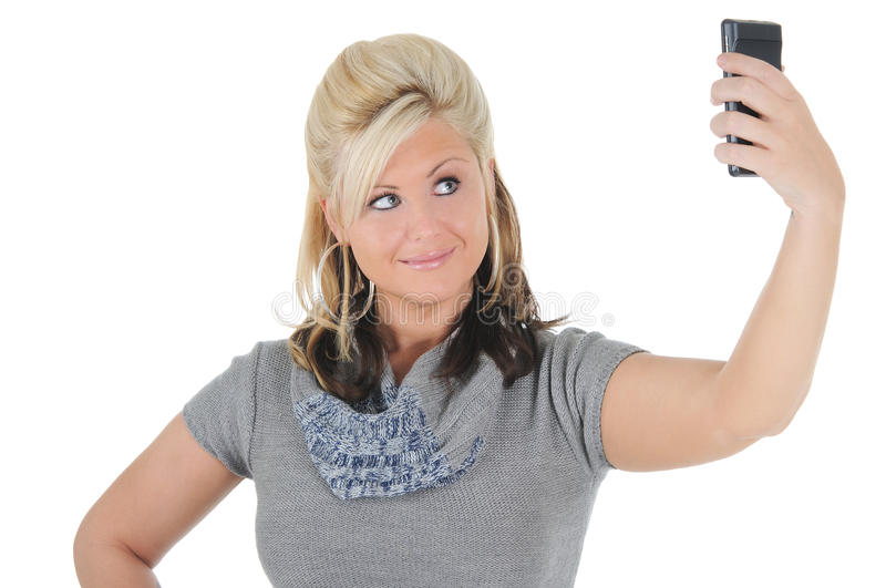 Attractive Woman Using A Smart Phone 11 Royalty Free Stock Photo