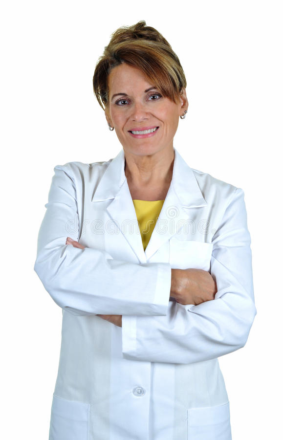 Free Attractive Woman Wearing A Lab Coat Stock Image - 20340211