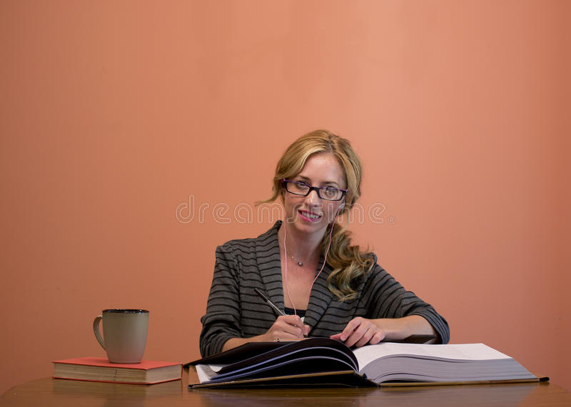 Attractive Woman Working