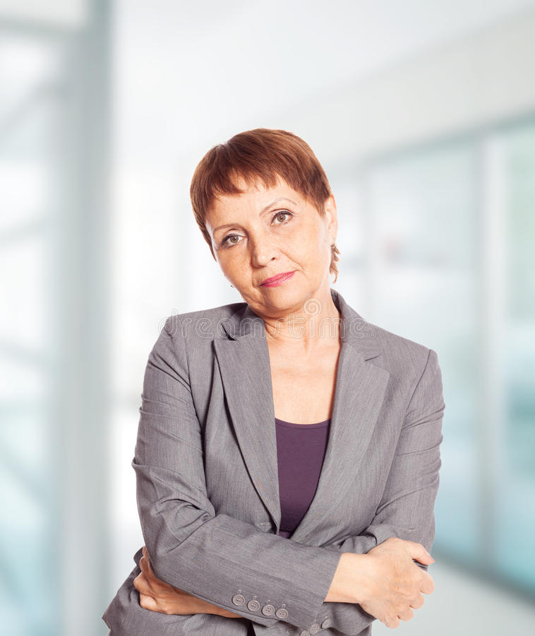 Attractive woman 50 years old stock photography