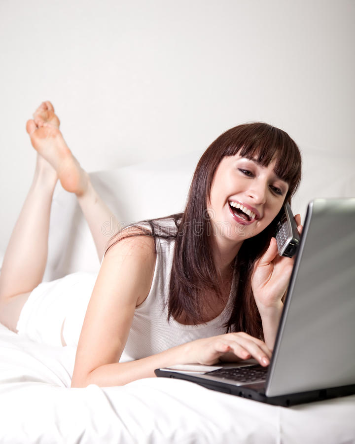 Download Attractive Working Woman Winding Down Stock Photo - Image: 13326458