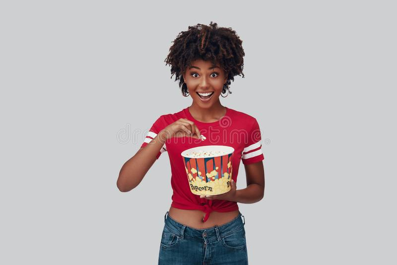 Attractive young African woman royalty free stock photo