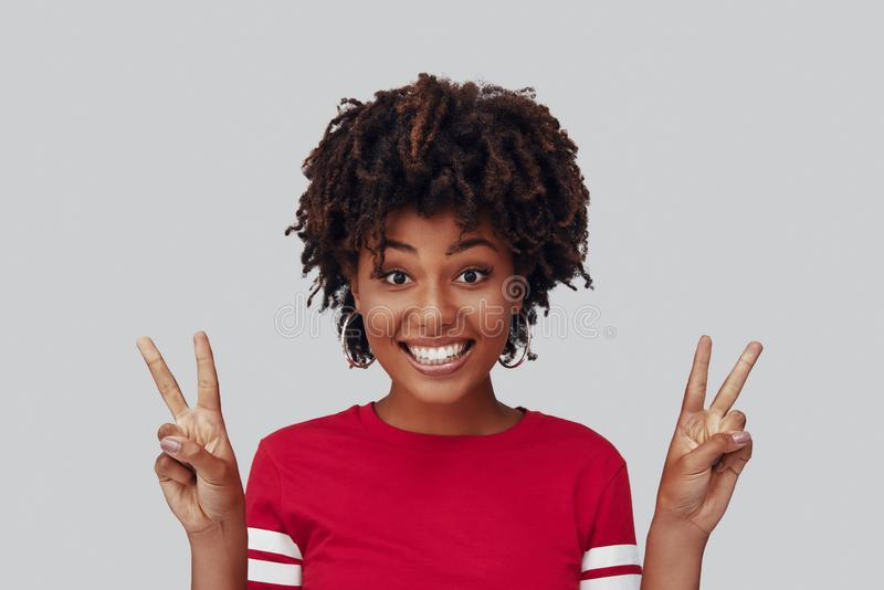 Attractive young African woman stock photography