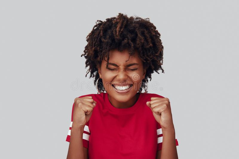 Attractive young African woman stock photos