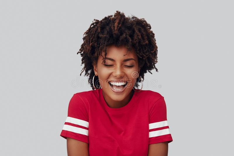 Attractive young African woman stock images