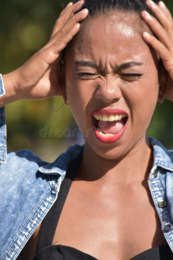 Shocked Youthful Female. An attractive young asian person stock image