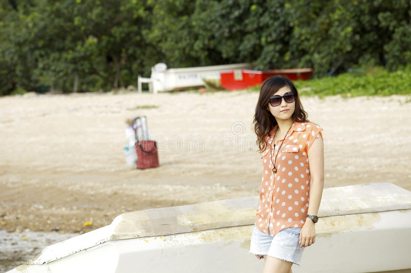 Attractive young asian woman royalty free stock images