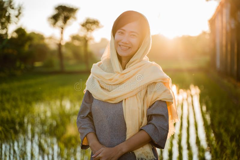 Young asian woman wearing hijab stock images