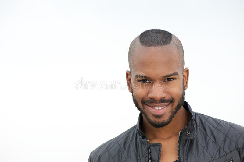 Download Attractive Young Black Man Smiling Stock Image - Image of adult, hairstyle: 32053199