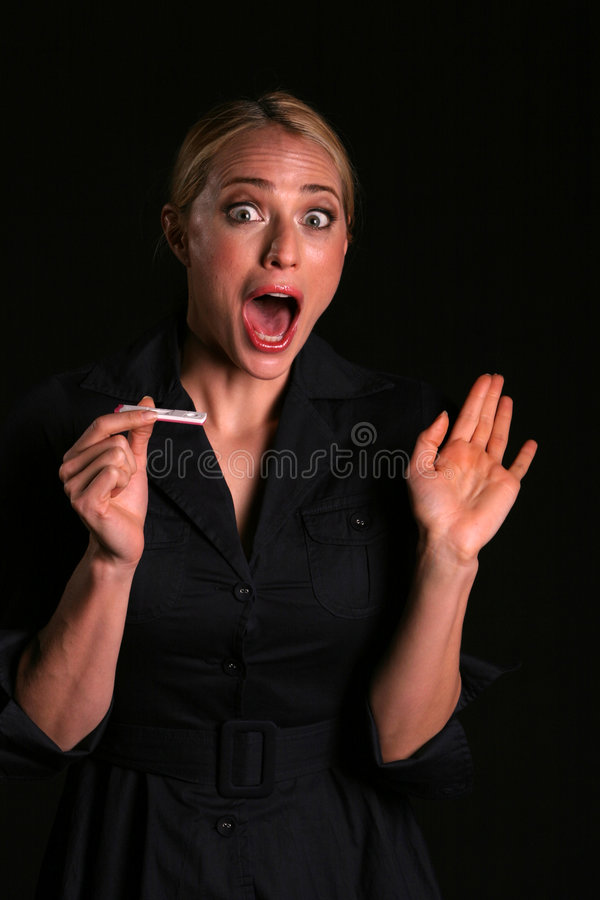 Download An Attractive Young Blonde Woman Is Shocked To Think She Is Pregnant Stock Image - Image of quadruplits, screams: 2025967