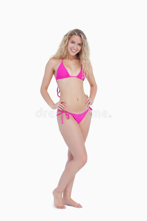 Download Attractive Young Blonde Woman Wearing A Swimsuit Stock Image - Image: 25330941