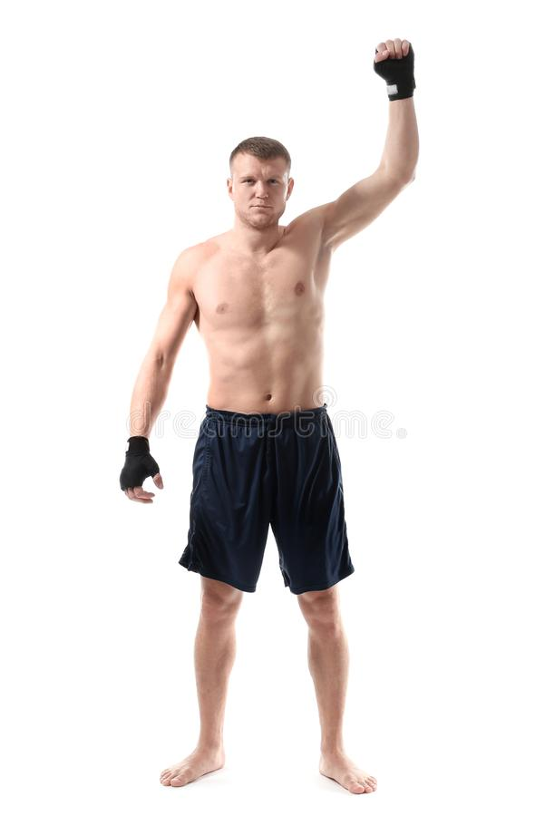 Attractive young boxer royalty free stock photography