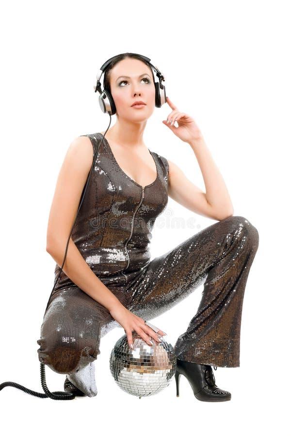 Download Attractive Young Brunette In Headphones Stock Photo - Image: 27394704