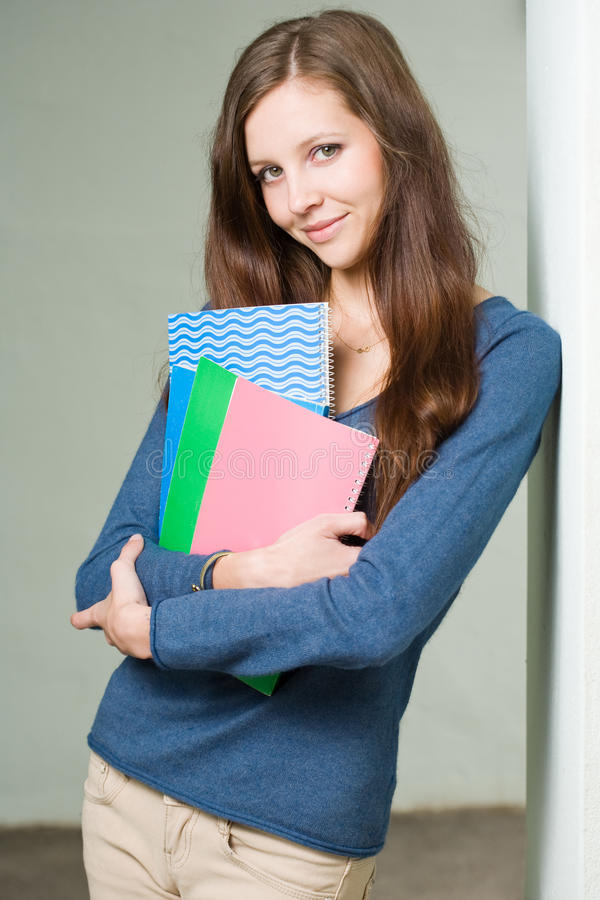 Download Attractive Young Brunette Student Girl. Royalty Free Stock Images - Image: 24868169