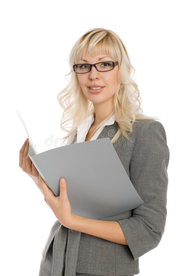 Attractive young businesswoman royalty free stock photos