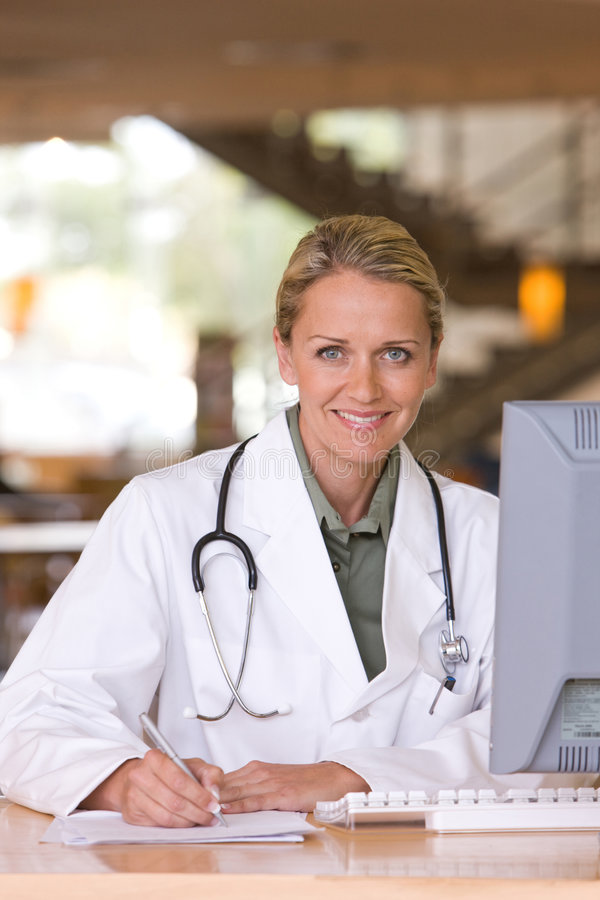 Download Attractive Young Caring Doctor Royalty Free Stock Photos - Image: 8695548