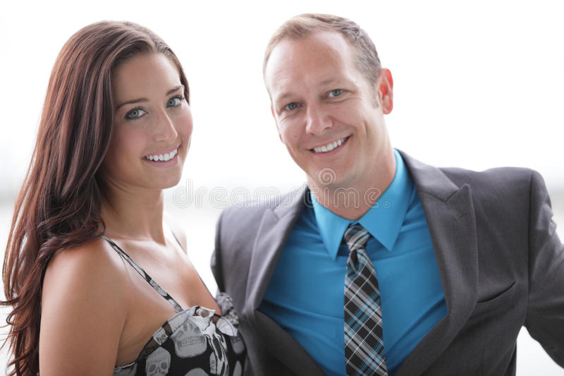 Attractive Young Couple Smiling Royalty Free Stock Image