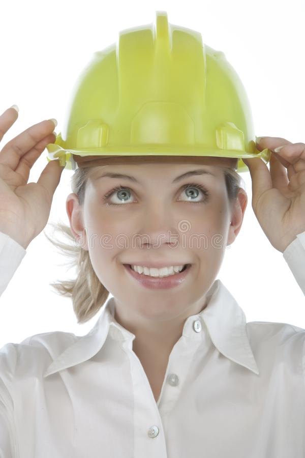 Download Attractive young engineer stock image. Image of cute, construction - 9963733