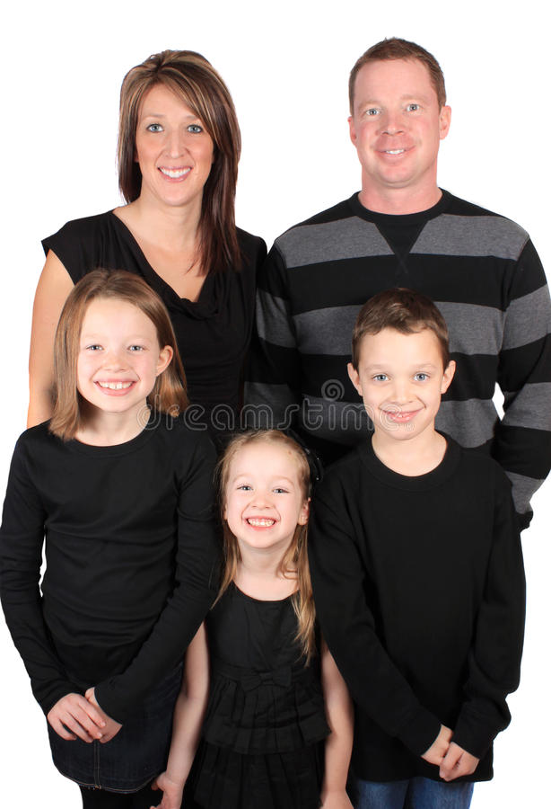 Attractive young family royalty free stock photos