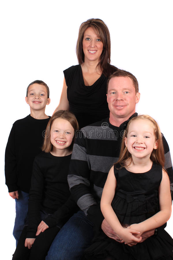 Attractive young family stock images