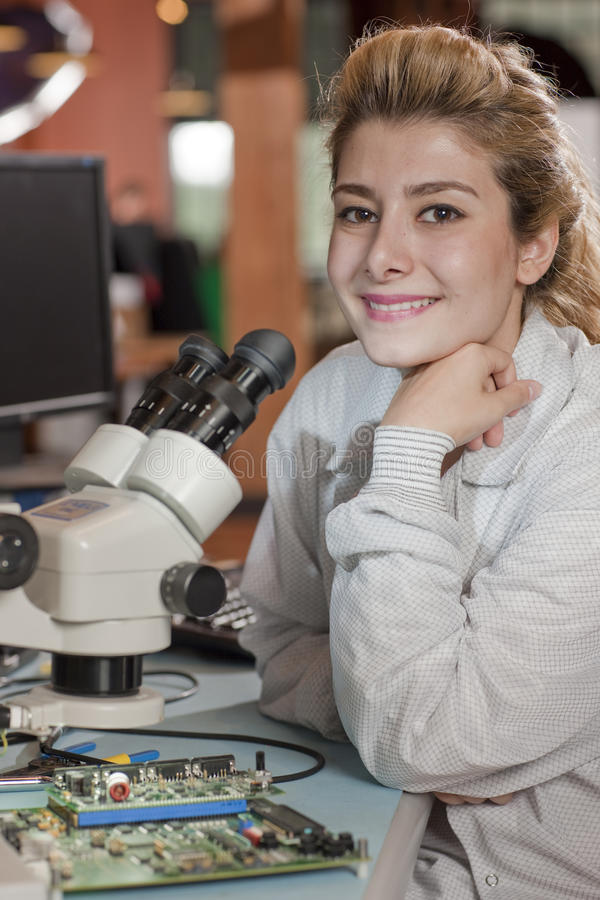 Download Attractive Young Female Researcher Stock Photo - Image: 13712820